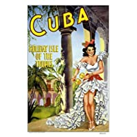 Countries Travel Poster Cuba Holiday Isle CTP013 Satin A4 Size