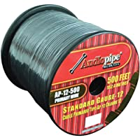Nippon AP12500BK 12 Gauge 500Ft Primary Wire, Black