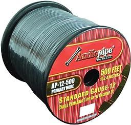 Nippon AP12500BK 12 Gauge 500Ft Primary Wire, Black