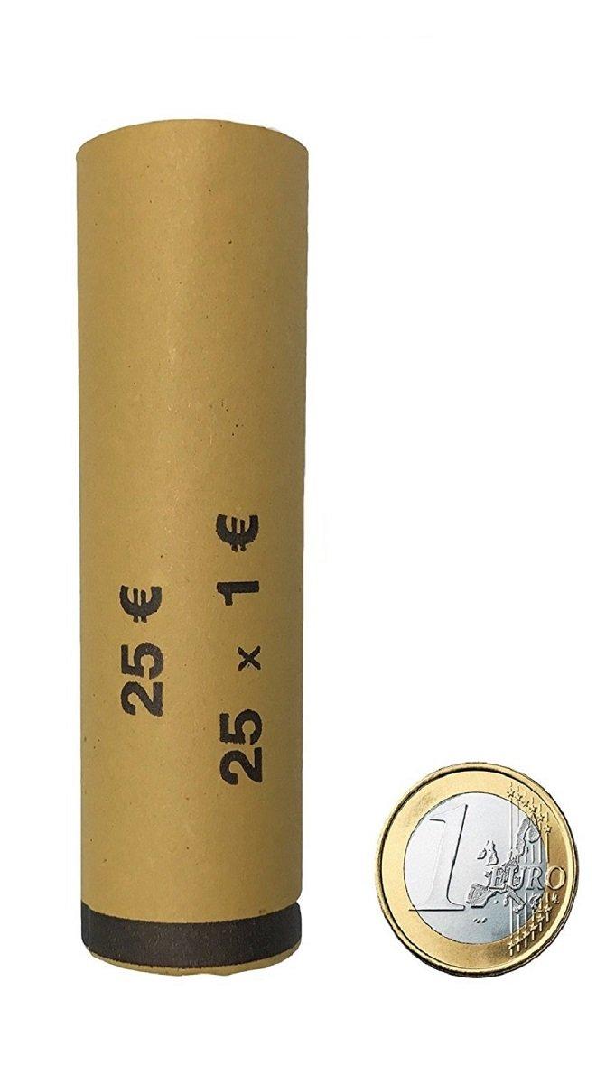 BLISTER PER MONETE EURO TUBI DI CARTA PRECONFEZIONATI EURO CENT - Kit 360 tubi carta portamonete da 1 euro Orfix