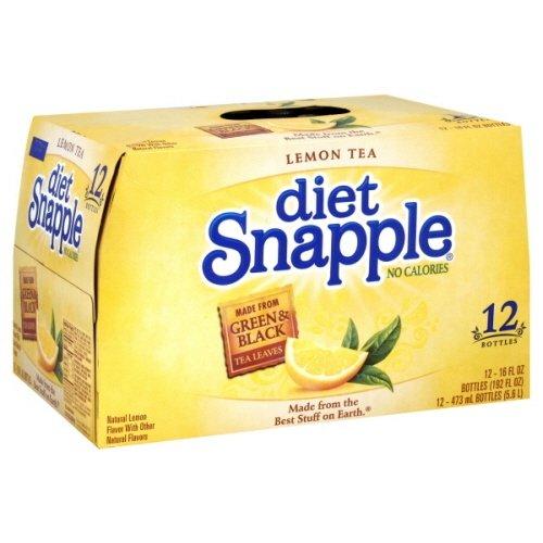 Snapple Tea, 12- 16 Fl Oz (Pack of 2) (Diet Lemon)