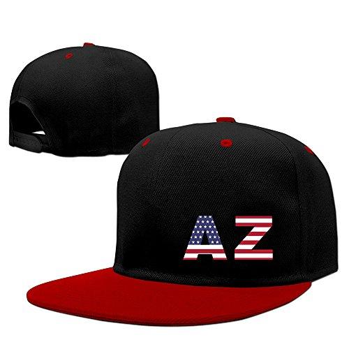 AZ State Of Arizona Flag Adjustable Snapback Cap Flat Brim Hip-Hop Hats ()
