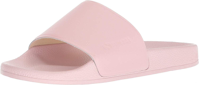 Superga 1914 Fglu Womens Pink Leather Slide Sandals