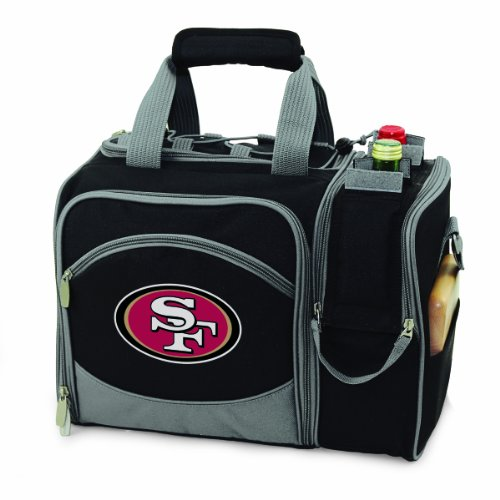 NFL San Francisco 49ers Malibu Insulated Shoulder Pack with Deluxe Picnic Service for Two Review