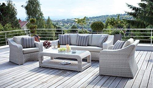 Rattan lounge grau weiß  Amazon.de: Haberkorn Premium Sitzgruppe Simeto Lounge Rattan ...