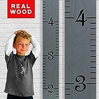 Growth Chart Art | Wooden Ruler Growth Chart for Kids...