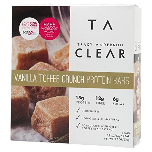 Tracy Anderson Vanilla Toffee Crunch Protein Bars