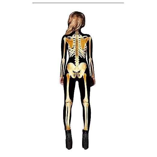 XIAOGUIGUI Xiaogiguisize XL - Disfraz de Calavera de Hueso ...