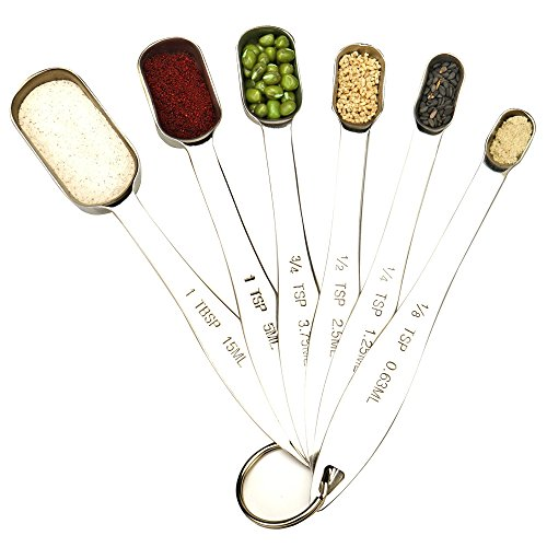 4 pcs Stainless Measuring Spoon Measure Scoop Cup - 3