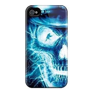New Skull Tpu Case Cover, Anti-scratch DZfkx9818hUgYo Phone Case For Iphone 4/4s
