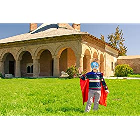 - 51IFVpJH5RL - Superhero Capes for Kids, Girls & Boys   Pretend Play 2 Reversible Capes & 4 Masks Halloween, Birthdays Party Favors
