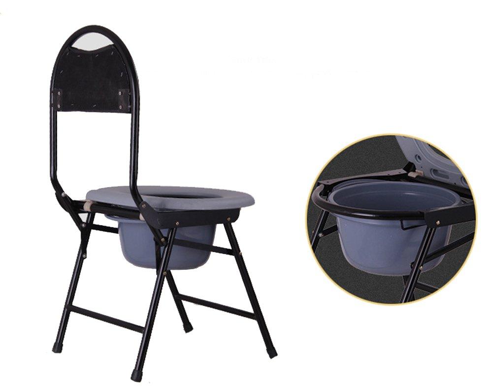 Gfywz sedile del water per anziani mobile pieghevole per la sedia