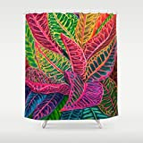 Hawaii Tropical Home Decor Stunning Shower Curtain by Michal - Tropical Crotons - 71x74 - Hawaii art, bathroom Island style