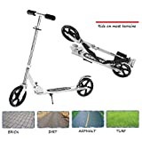Ohana Kick Scooter Folding for Adult Kids 2 Big 200mm PU Wheels Height