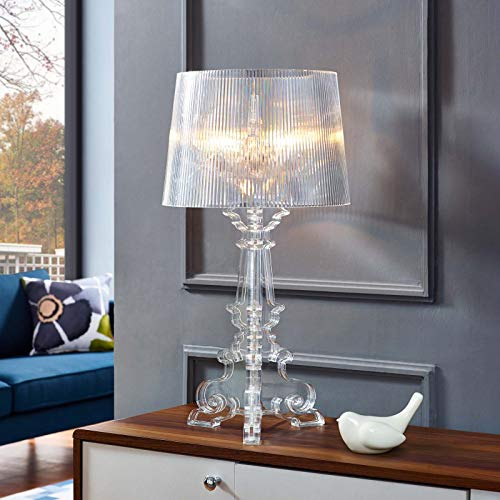 Modway French Grande Acrylic Table Lamp in Clear (Lamp Acrylic Desk)