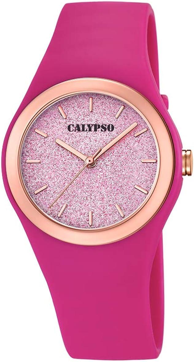 Calypso Watches Reloj Analógico para Mujer de Cuarzo con Correa en Plástico K5755/5