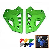 Heinmo New Motorcycle CNC Aluminum Accessories Foot Peg Heel Plates Guard Protector For Kawasaki Z900 2017 Foot Peg Heel Protection Z900 Footrest Rear set Foot Peg (green)