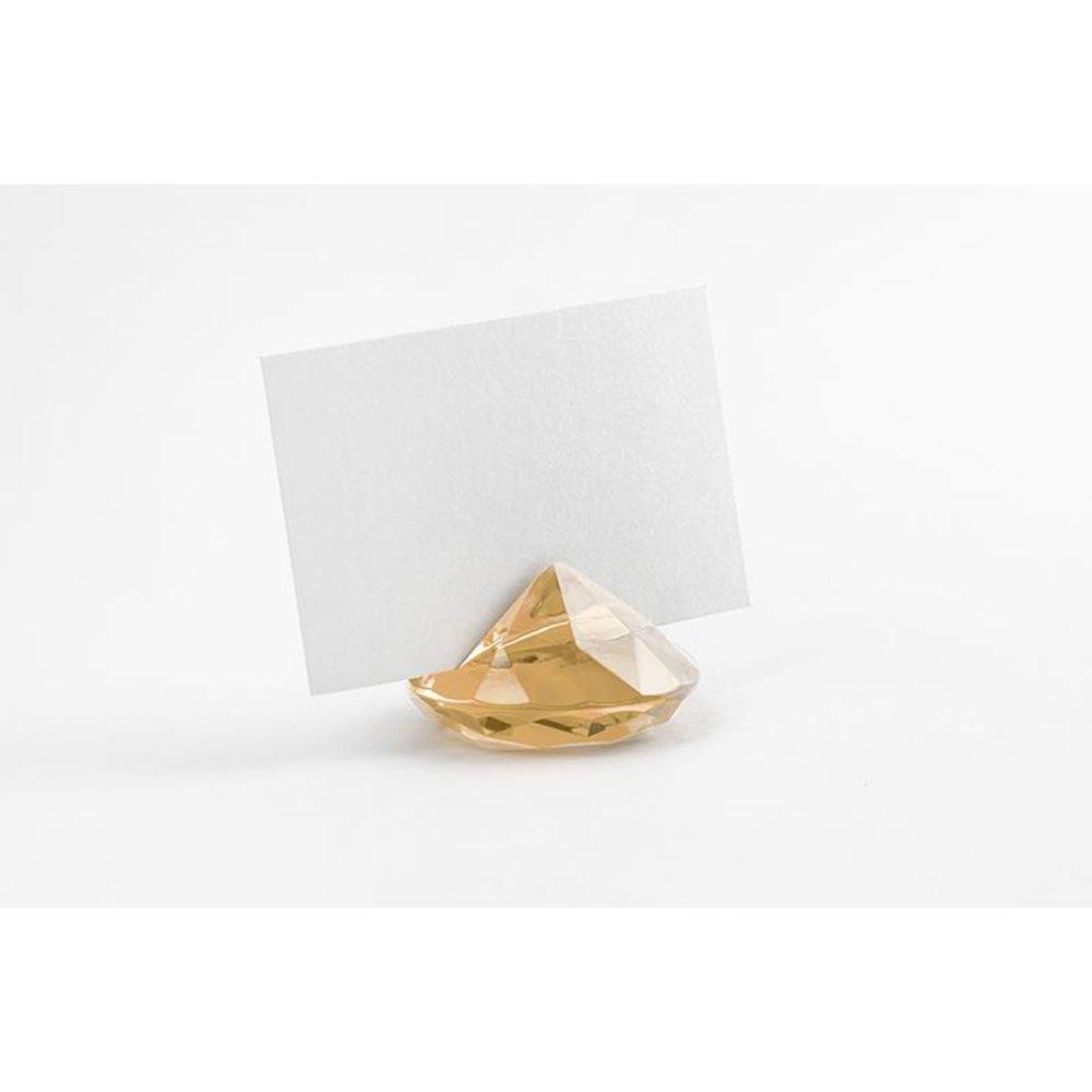 Lot de 10/porte-nom diamant diff/érentes couleurs or