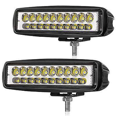 LED Pods, OFFROADTOWN 6Inch 80W Spot LED Light Bar LED Work Light Off Road Driving Light Waterproof LED Cubes Boat Light for Vehicle Truck UTV Jeep ATV SUV Lamp: Automotive