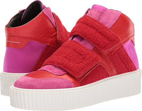 MM6 Maison Margiela Women's Hook and Loop High Top Pink Red/Pink Red 38.5 M - Maison Red Margiela
