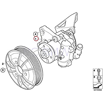 Amazon Com Bmw Genuine Power Steering Pump Luk Lf 30 For 325xi