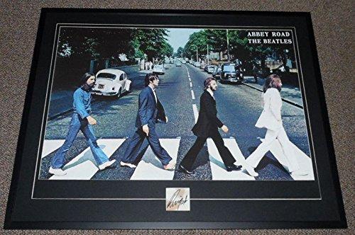 - Ringo Starr Signed Framed 30x39 Beatles Abbey Road Poster Display JSA LOA