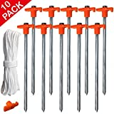 ABCCANOPY 25CM Tent Stakes Garden Gazebo Peg Accessories for Pop up Gazebo,Camping Tent(10pcs)