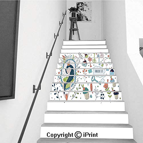 (Staircase Stickers Wallpaper Indoor Decorations 39.3