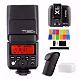 Godox TT350O with X1T-O Trigger 2.4G HSS 1/8000s TTL GN36 Camera Flash Speedlite for Olympus / Panasonic Mirrorless Digital Camera w/ EACHSHOT Color Filters