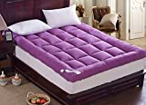 Super thick Super soft Collapsible Mattress,Cost-effective Breathability Simmons Tatami mats-Purple -thickness12cm 90x200cm(35x79inch)