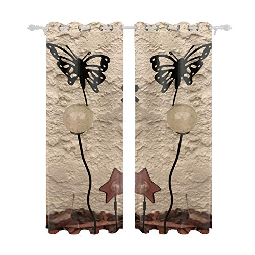 """Cecil Beard Polyester Blend Curtains - Fashion Pattern Print Curtain Window Curtain Panels for Living Room Garden Art - 84"""" W x 55"""" L - (Set of 2 Panels) from Cecil Beard"""