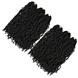 6 packs/Lot Faux locs Crochet Braids 18 inches