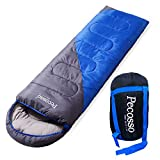 sleeping bag - Pecosso Ultralight Sleeping Bag : Outdoor Warming Compression Sack - Comfort, Lightweight, Waterproof, 3-4 Season Packable Bag for Camping, Travel, Backpacking, Hiking Fit Kid/Men/Women (Blue)