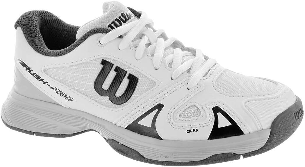 Wilson RUSH PRO JR 2.5, Zapatillas de tenis para niños, todos los niveles y terrenos, , tejido/sintético, blanco: Amazon.es: Zapatos y complementos