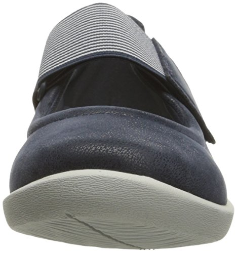 Sillian Mary Nubuck Navy Jane Clarks Synthetic Cala Flat Women's tq585SPw