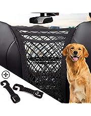 Upgraded 3-Layer Universal Car Seat Mesh Organizer- Car Purse Pouch Mesh Pocket Handbag Holder- Auto Cargo Storage Net Bag & Headrest Hook for SUV- Vehicle Barrier of Backseat Pet Kids