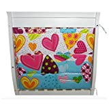 Lovely Baby Hanging Diaper Bag Baby Crib Storage Bag, Love Heart