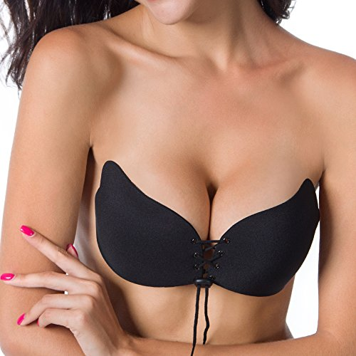 97ca40ab986bc Women s Silicone Strapless Backless Reusable Push Up Self Adhesive with  Drawstrings bra - Buy Online in UAE.