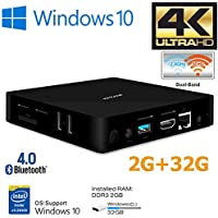 IBOPAIDA Mini PC, Intel Atom x5-Z8350 Processor (2M Cache, up to 1.92 GHz) 4K/2GB/32GB 1000Mbps LAN 2.4/5.8G Dual Band WiFi BT 4.0 with HDMI and VGA Ports, Fanless Computer Support Windows 10