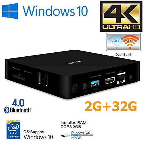 IBOPAIDA Mini pc,Desktop pc,Intel Atom x5-Z8350 Processor (2M Cache, up to 1.92 GHz) 4K/2GB/32GB 1000Mbps LAN 2.4/5.8G Dual Band WiFi BT 4.0 with HDMI Fanless Computer Support Windows 10 by IBOPAIDA (Image #8)