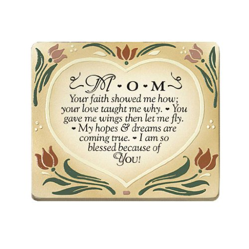 Mom, Your Faith Embossed Wood Plaque with Easel