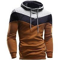 Mens Outwear,Laimeng Cotton Blend Fashion Retro Long Sleeve Hoodie Hooded Sweatshirt Tops Jacket Coat Outwear (Coffe, XXL)