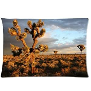 Beautiful Joshua Tree At The Sunset Pillowcase,One Side Pillowcase Pillow Cover 20x30 inches