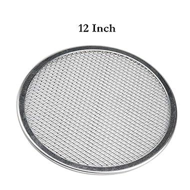 12'' Pizza Screen Seamless Aluminum Chef's Baking Screen,Commercial Grade Pizza Pan Supplies