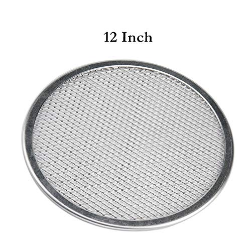 (12'' Pizza Screen Seamless Aluminum Chef's Baking Screen,Commercial Grade Pizza Pan Supplies)