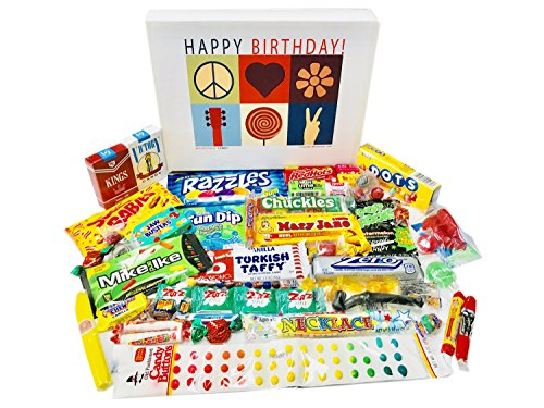 Woodstock Candy Happy Birthday Candy Gift Box Care Package for a Man or Woman for $<!--$38.90-->