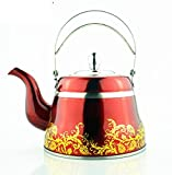 W&P Classical Roman pots Stainless steel teapots Coffee pots Induction cookers Kettle , red 1.5l