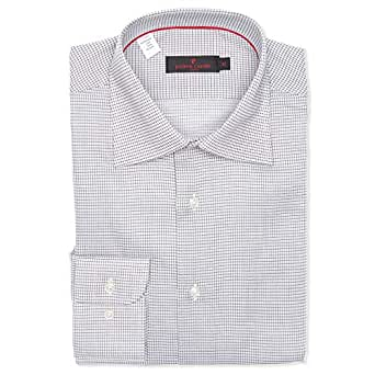 Pierre Cardin Grey & White Shirt Neck Shirts For Men