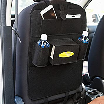 Sedeta Bolsos traseros del asiento del coche Bolsillo multi del almacenaje del bolsillo protector de viajes bolsas de la chaqueta Organizador para carros de ...