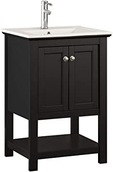 Fresca Manchester 24 Inch Black Traditional Bathroom Vanity